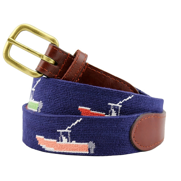 Power Boats Needlepoint Belt