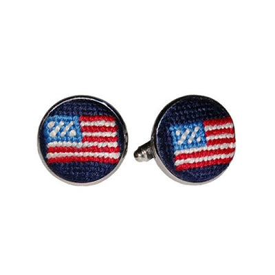 American Flag Needlepoint Cufflinks - Charlotte's Inc
