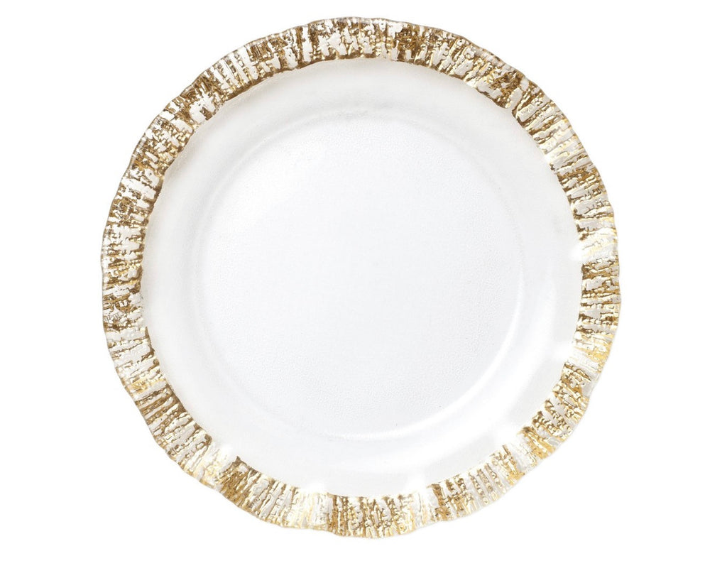 Vietri Rufolo Glass Gold Service Plate/Charger - Charlotte's Inc