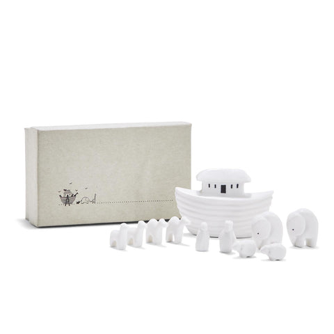 Miniature Porcelain Noah's Ark Set