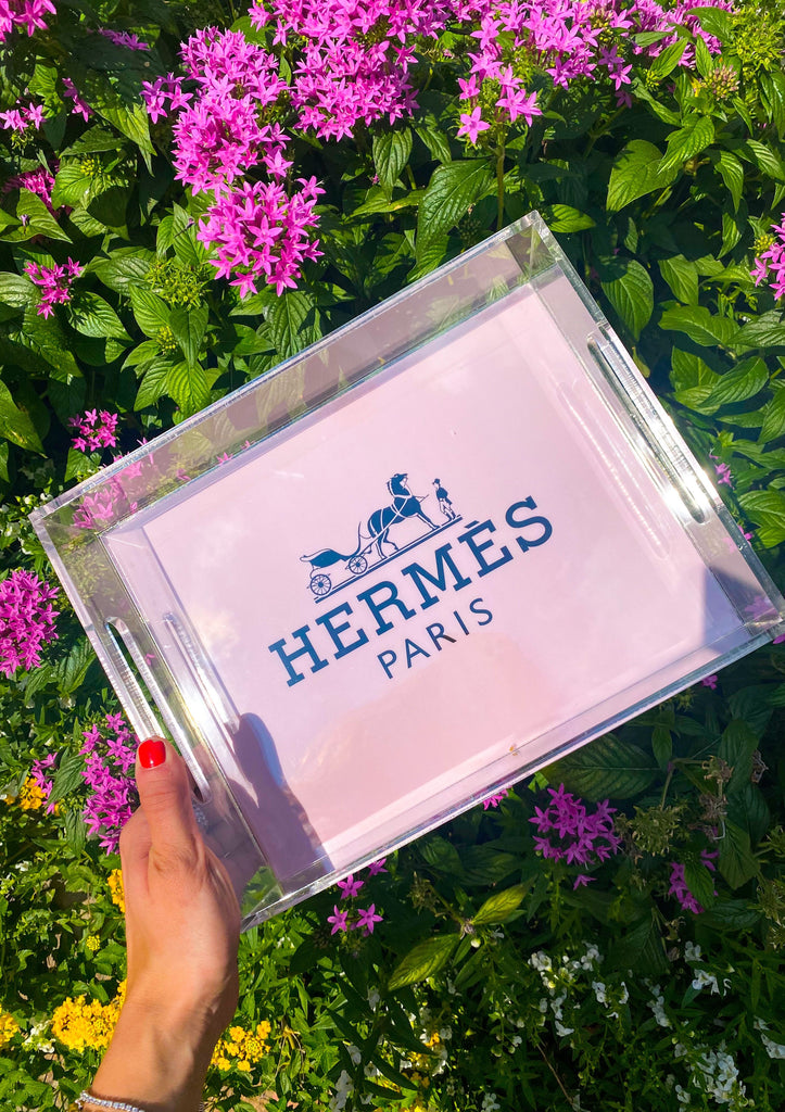 Pink Hermes Acrylic Trays