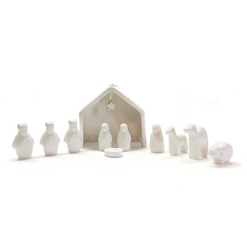 Mini Porcelain Nativity Set