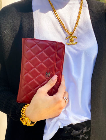 Vintage Chanel Quilted Wallet on a Chain