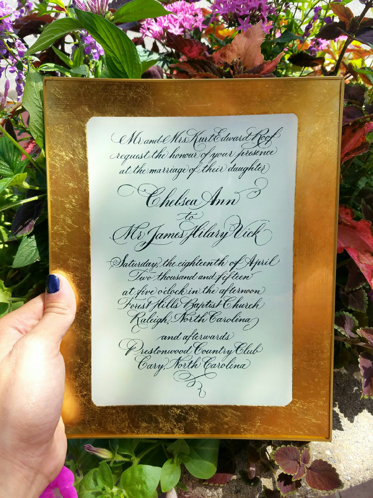 Glass Wedding Invitation - Charlotte's Inc