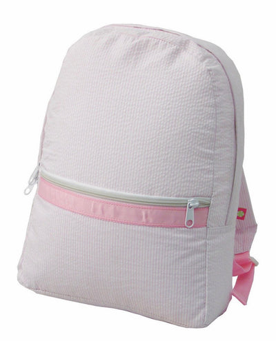 Seersucker Backpack - Charlotte's Inc
