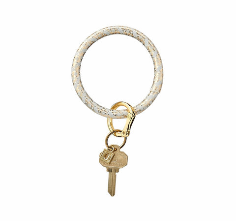 O Key Ring--Leather - Charlotte's Inc