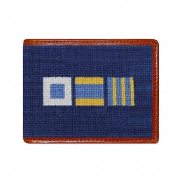 Nautical Flags Needlepoint Wallet - Charlotte's Inc