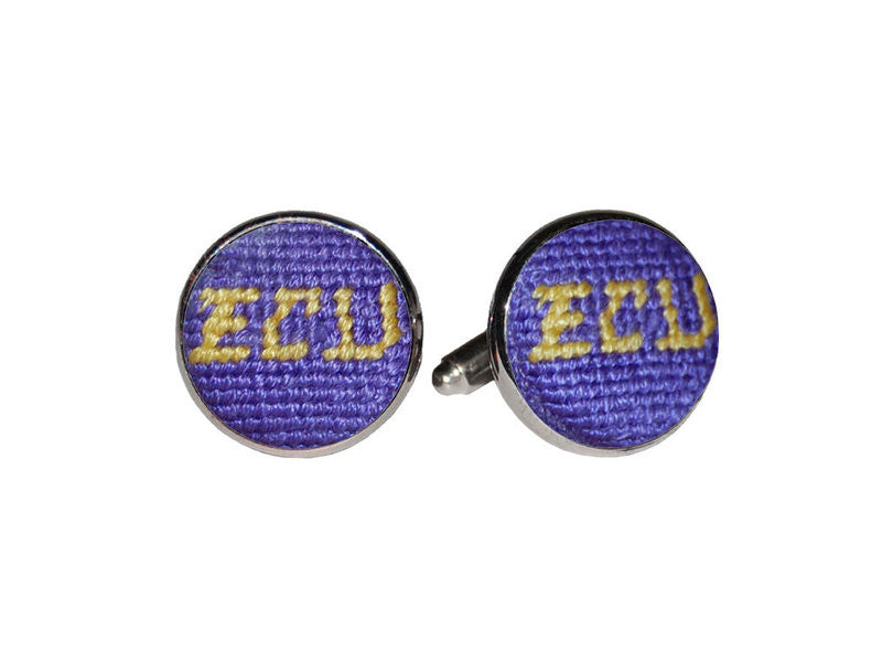 ECU Needlepoint Cufflinks - Charlotte's Inc