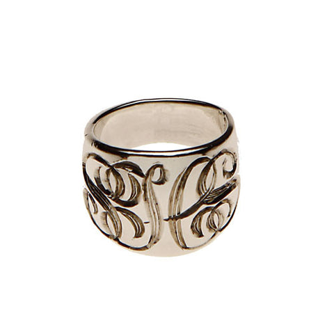 Sterling Silver Hand Engraved Ring