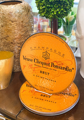 Veuve Cliquot Glass Cutting Board
