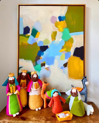 Large Felt Nativity
