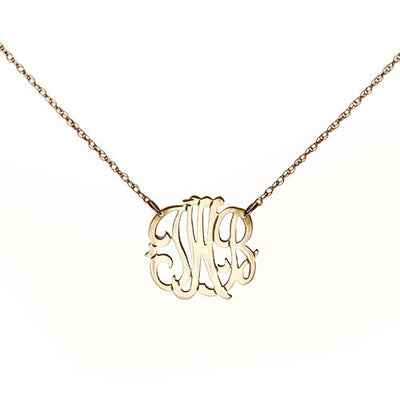"Personalized 3 Initial Necklace - 1/2"" Diameter - Charlotte's Inc"