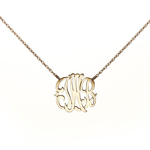 "Personalized 3 Initial Necklace - 3/4"" Diameter - Charlotte's Inc"