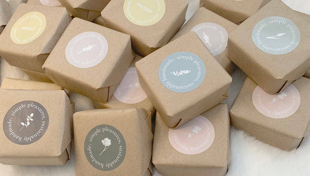 handmade soap bars made with safe ingredients and packaged with eco friendly materials