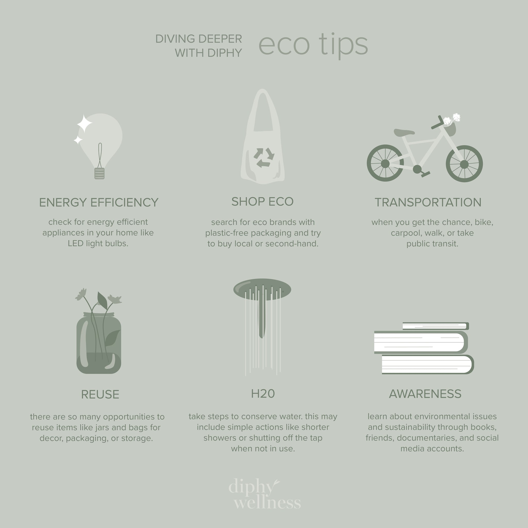 eco tips to be part of the positive impact on the environment. happy earth day