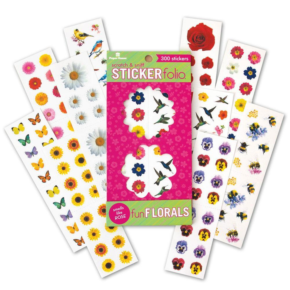 Assorted Scented Stickers Of Flowers, Bees And Birds