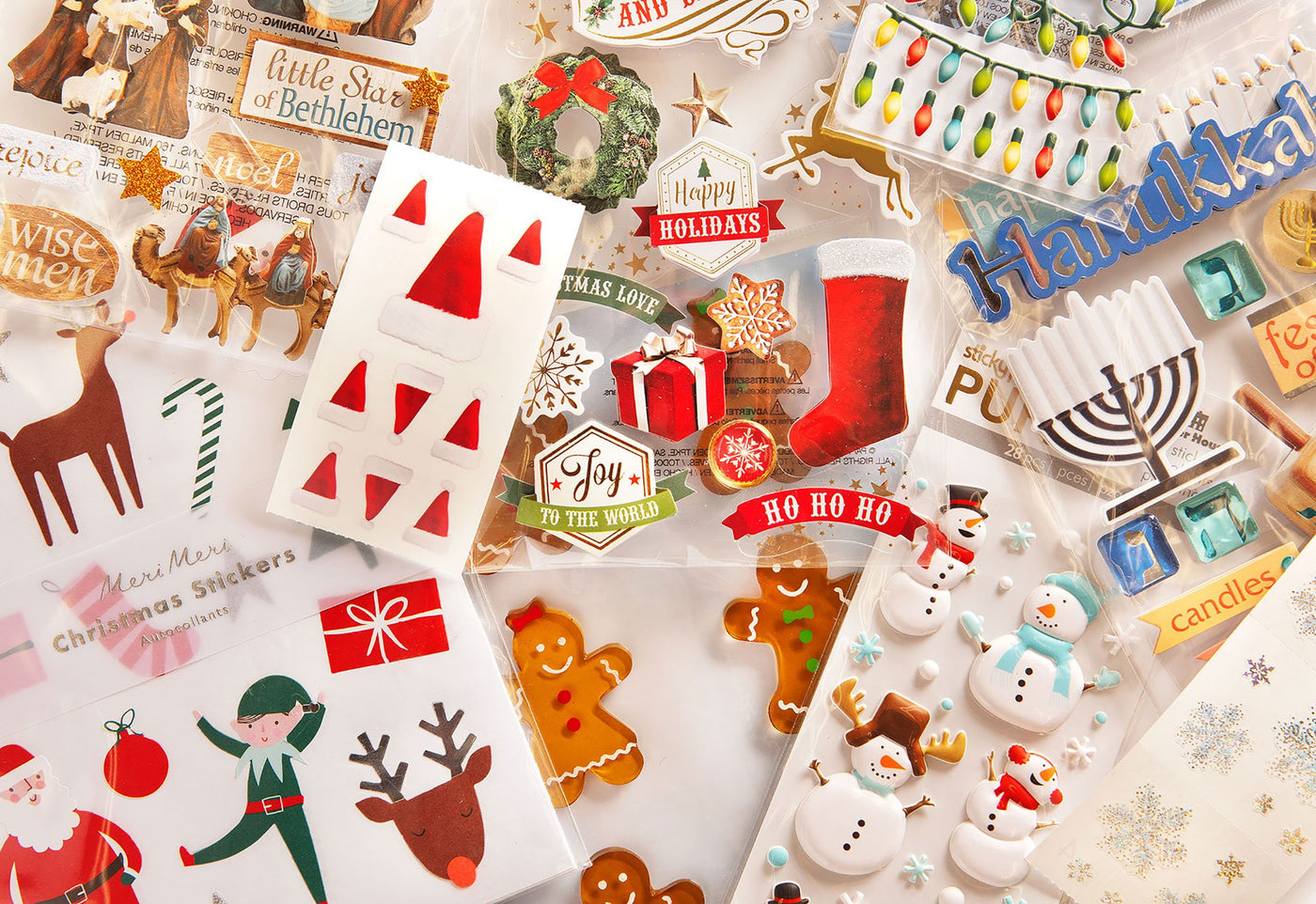 Assortment Of Winter Holiday Stickers