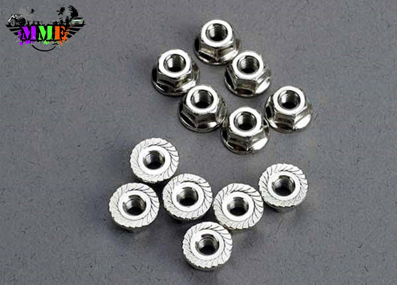 2744 - Traxxas 3Mm Nuts Flanged (12) Parts