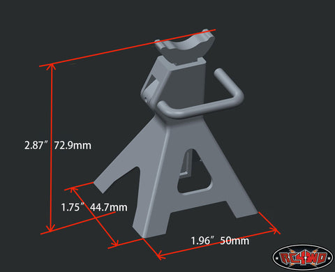 "Chubby 6 TON 1/10 Scale ""FAKE"" Jack Stands (2)"
