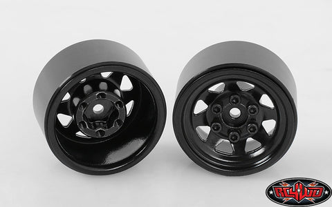 Stamped Steel 1.0 Stock Beadlock Wheel, Black (4) (W0229)