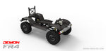 FR4C 1/10 Demon 4x4 Crawler Kit, w/ Lexan SUV Body, Full Metal & CNC Rims