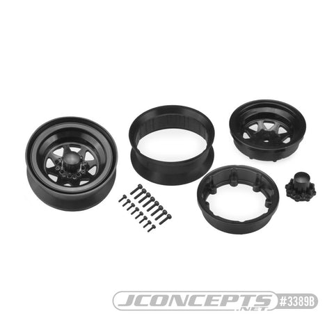 "JConcepts Colt 1.9"" beadlock wheel w/ cap - (black) - 2pc. 3389B"