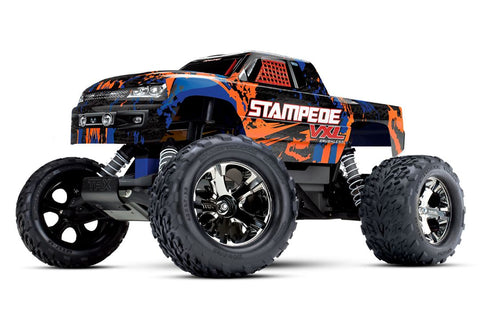 Traxxas Stampede VXL 1/10 RTR 2WD Monster Truck - Orange (No Battery/Charger)