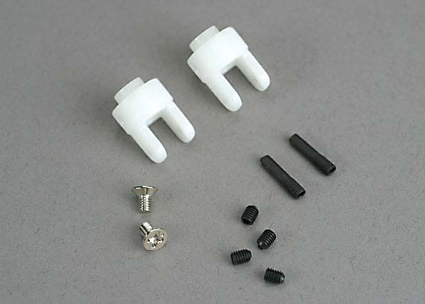 4628 - Traxxas Differential output yokes (2)/ 3x5mm countersunk screws (2)/ 3mm set (set) screws (4)