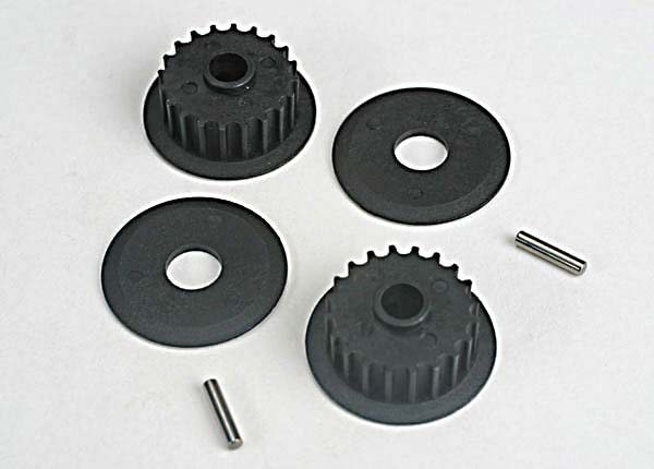 4895 - Traxxas Pulleys, 20-Groove (Middle) (2)/Flanges (2)/ Axle Pins (2)