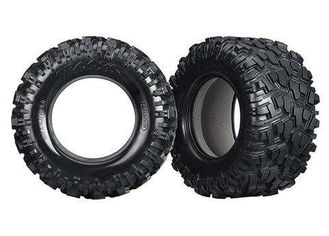 7770X - Traxxas Tires, Maxx AT (Left & Right) (2)/ Foam Inserts (2)