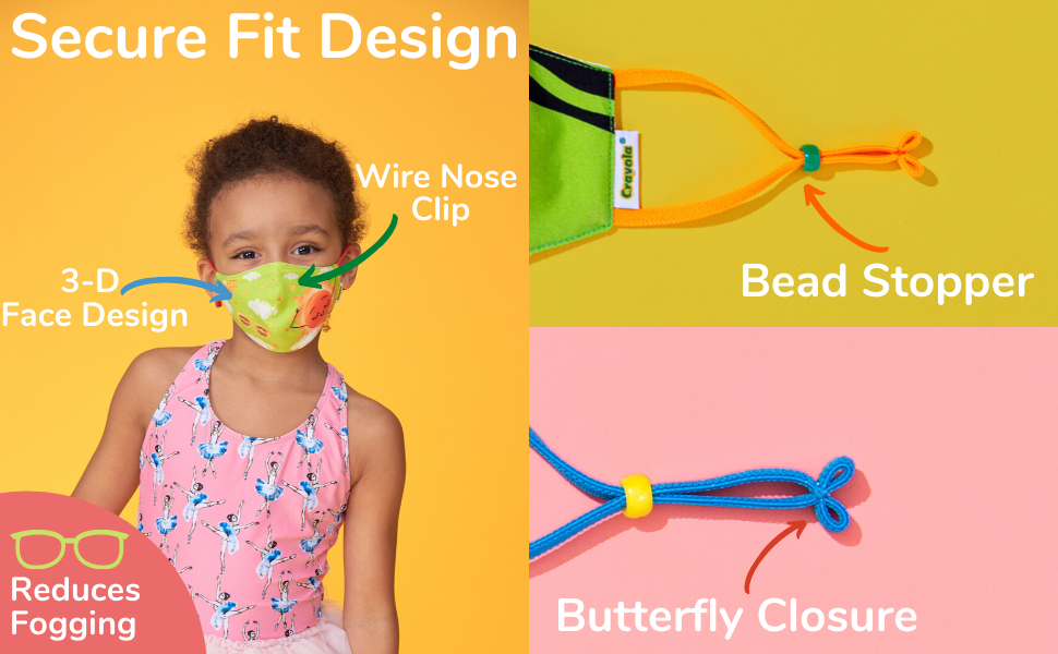 Our Secure Fit Design Adjusts to Your Fit Your Child's Face