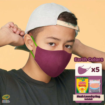 Crayola™ Adult Mask Set, Earth Colors, 5 Masks for Adults or Teens