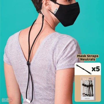 SchoolMaskPack™ Mask Straps - Teen/Adult Set, Neutrals