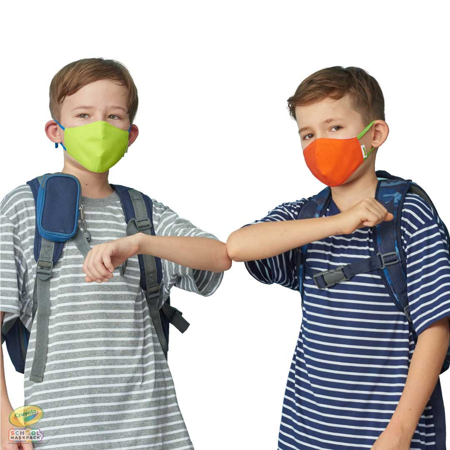 Classpack: 125 Crayola™ Kids Reusable Cloth Face Masks, Cool Colors, Bulk School Supplies