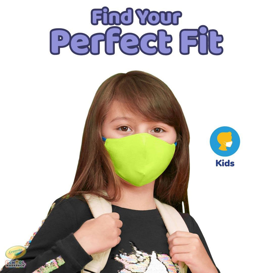 Crayola™ Kids Reusable Cloth Face Mask Set, Cool Colors