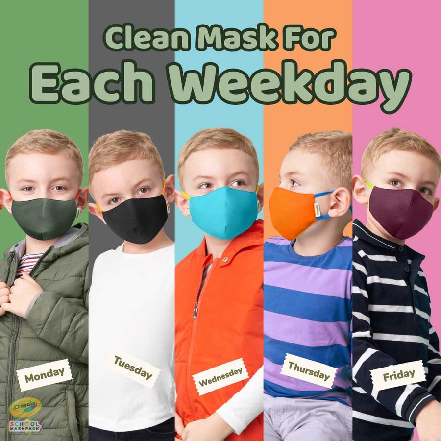 Crayola™ Kids Reusable Cloth Face Mask Set, Earth Colors