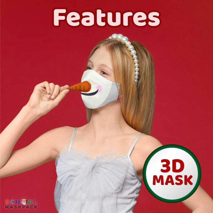 SchoolMaskPack™ Kids Holiday 3D Face Mask Set