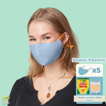 Crayola™ Adult Mask Set, Power Pastels, 5 Masks for Adults or Teens