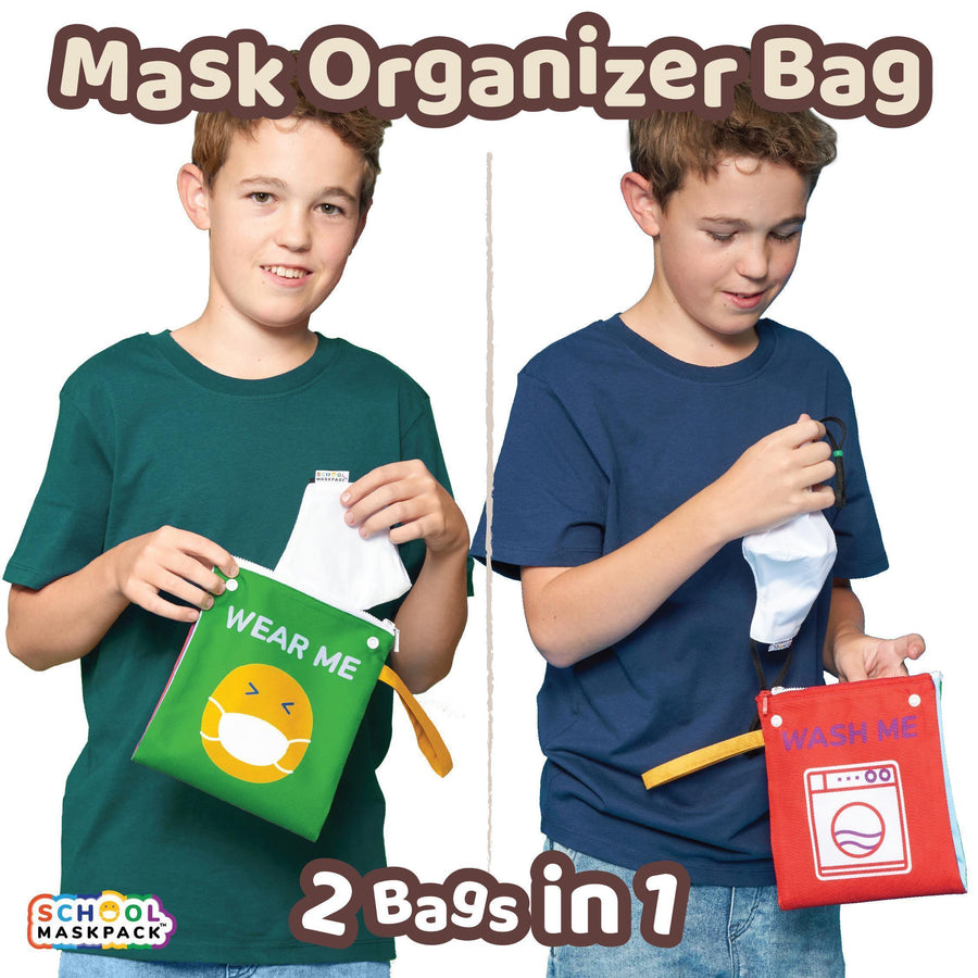 Two-in-One Face Mask Organizer Bag