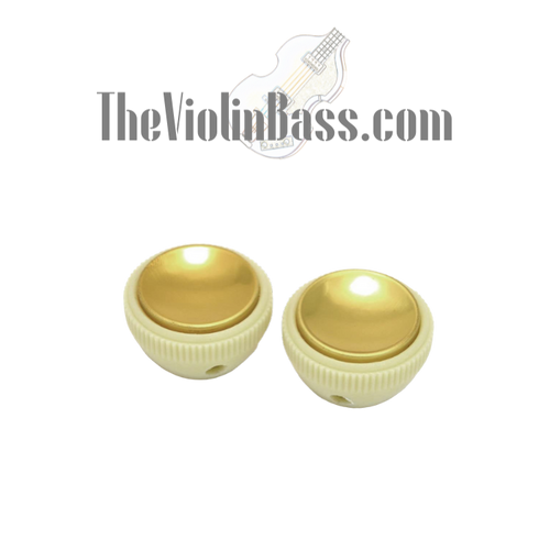 Aftermarket Tea Cup Knob Set (2) for Hofner