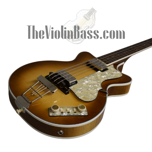 New German Made Hofner Double Cut Club Bass Sunburst 500/2 DC