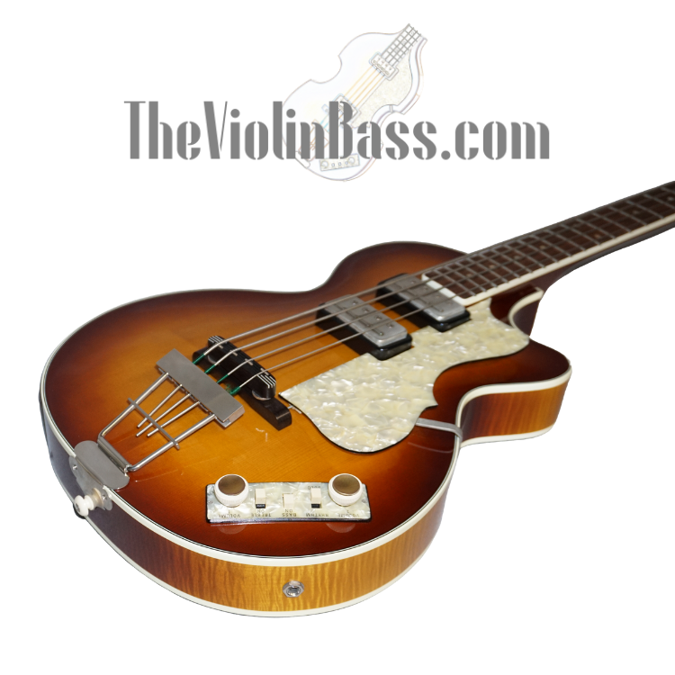 German Made Hofner Club Bass w/Cavern Spacing Sunburst Mint Condition