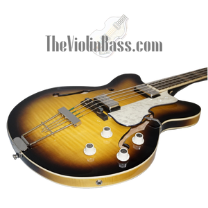 Hofner HCT500/7 CT Verythin Bass Sunburst w/hardhsell case