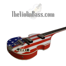 Load image into Gallery viewer, Used Hofner CT American Flag Violin Bass Mint Condition with case