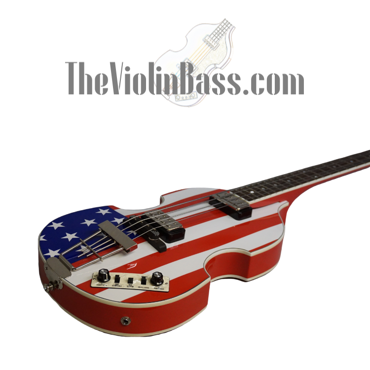 Used Hofner CT American Flag Violin Bass Mint Condition with case