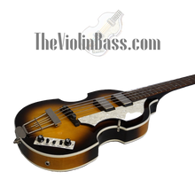 Load image into Gallery viewer, Used Hofner CT Cavern Sunburst Violin Bass Mint Condition with case