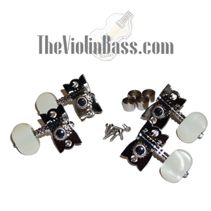Genuine Hofner H61/73B Machine Heads Nickel w/Pearloid Buttons Set of 4