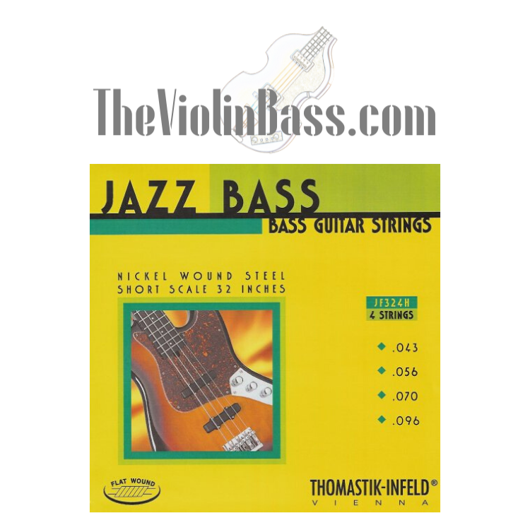 Thomastik Infeld Flatwound Short Scale Strings for Hofner Bass