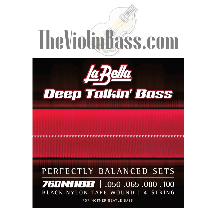 LaBella Black Nylon Tapewound Strings for Hofner Bass 760NHBB .050-.100