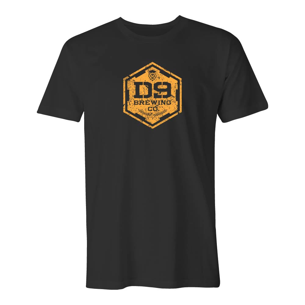 "D9 Brewing | ""Distressed Logo"" Unisex Black Tee"